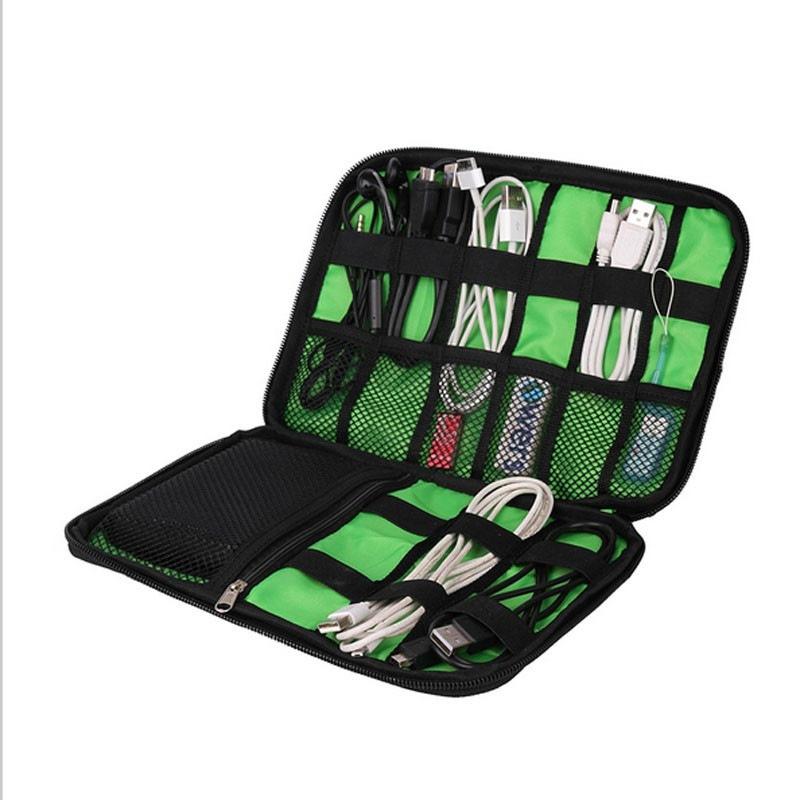 Organizer System Kit Case Storage Bag Digital Gadget Devices USB Cable Earphone Pen Travel Insert Portable()