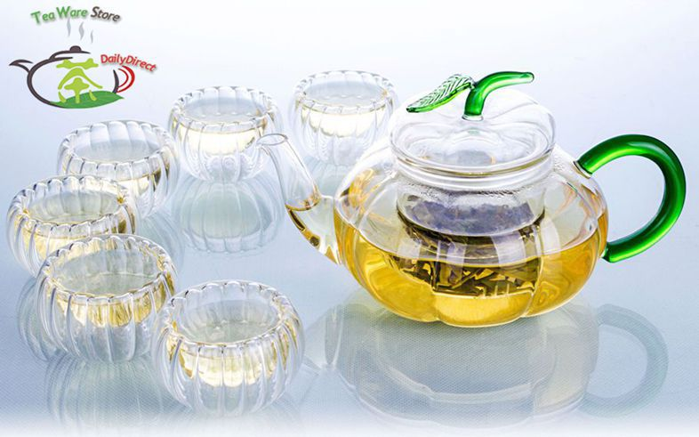 Посуда DrinkWare TableWare 1 x 20.3fl.oz /infuser lid+6*1fl.oz Water Tea Pot Set посуда drinkware tableware teaware 1 x 6 1 400 infuser 4 b tdts043 x06