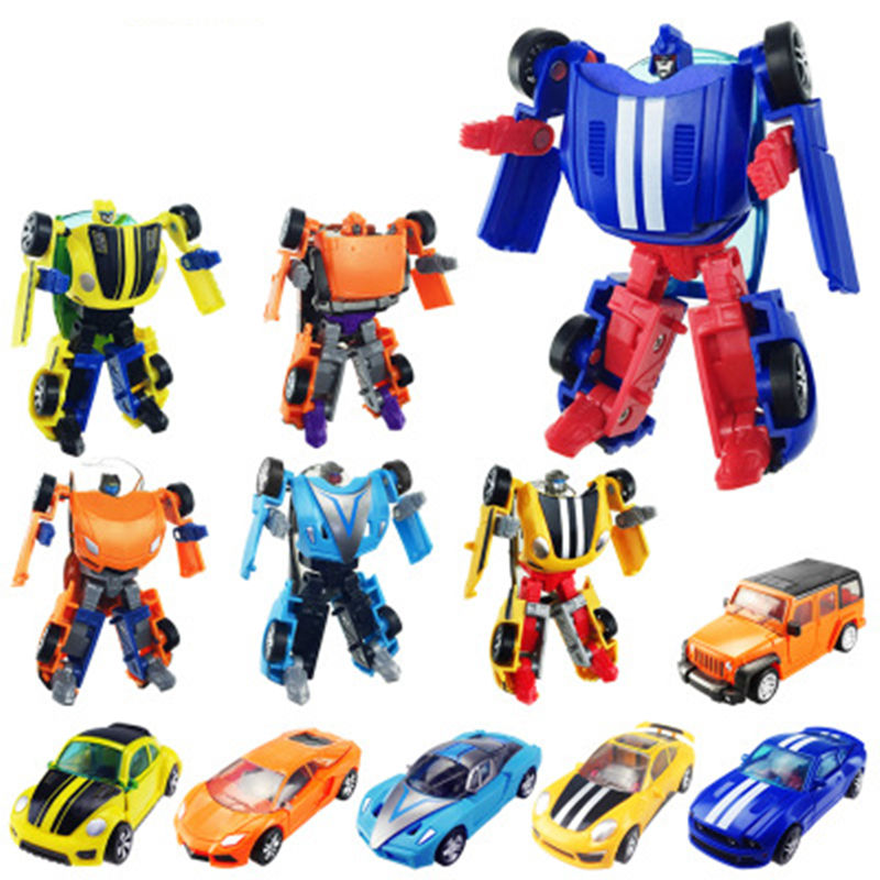 2016 New 1PC Mini Transformation Kids Classic Robot Cars Toys For Children Action Toy Figures Kids Education Toy Gifts Wholesale(China (Mainland))