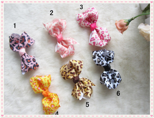 new design baby headband with bowknot 6 colors leopord bowknot headband 18 pcs/lot