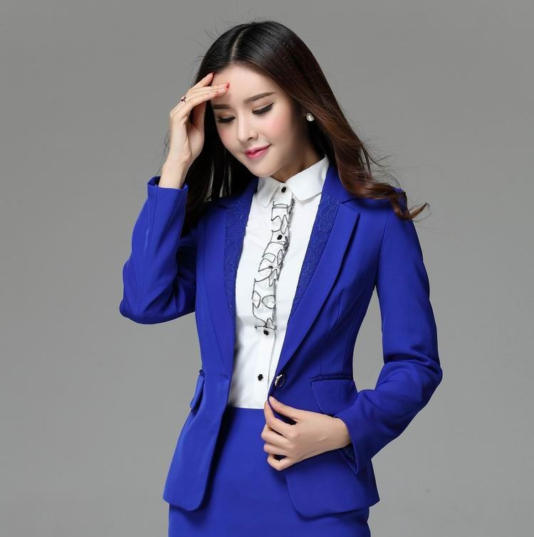 Images of Blue Blazer For Women - Reikian