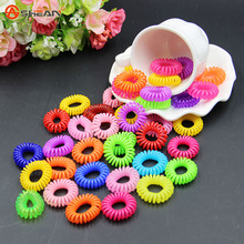 Random 10pcs/lot Telephone Wire Line Traceless Hair Ring Gum Colored Elastic Hair Band for Girl Hair(China (Mainland))