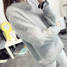 2015 Autumn New Set Of Head Semi Solid Sweaters Casual Knit Turtleneck Sea Imitation Horsehair Long Sleeved Sweater Knitwear(China (Mainland))