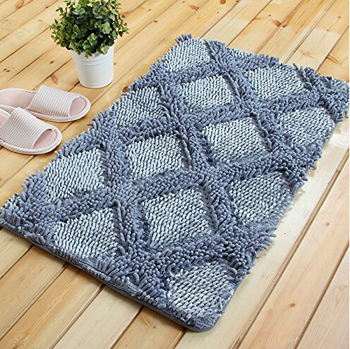 plancher moderne conception paisse chenille tapis 3d gris dimond motif tapis pour la maison. Black Bedroom Furniture Sets. Home Design Ideas