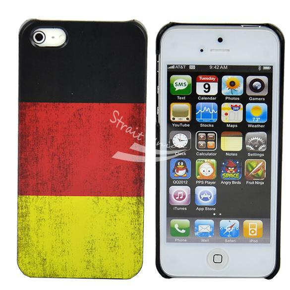 Classic Retro Germany National Flag Hard Back Cover Case Apple iPhone 5 5G - Zoe store
