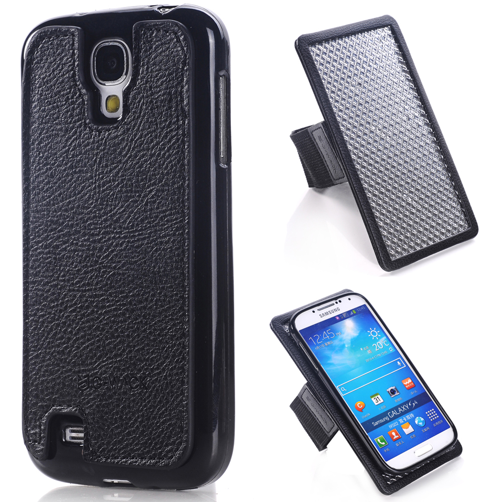 Top Quality TPU Shell + Strong Magnetic + Leather Multifunction Arm The Nylon Belt + Galvanized Iron Plate For Samsung Galaxy S4(China (Mainland))