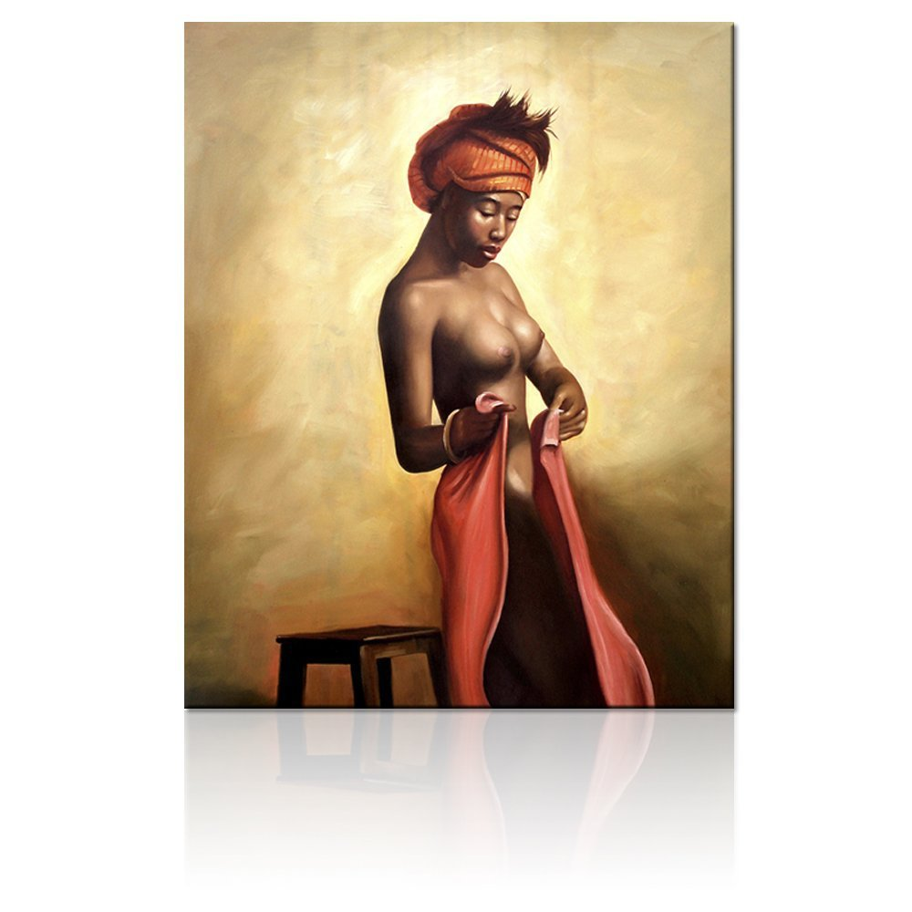FREE SHIPPING Sexy Nude Woman Canvas Wall Art,stretched and Framed Canvas Prints,unique Designed Home Decor Art(China (Mainland))