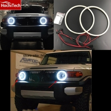 Buy Excellent SMD 5050 LED white headlight halo angel demon eyes kit Toyota FJ Cruiser 2007 08 2009 2010 2011 2012 2013 2014 for $30.10 in AliExpress store
