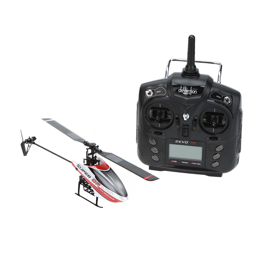 Original Walkera Super CP 2.4G 6-CH 3D 3-Axis Flybarless RTF RC mini Helicopter with DEVO-7/7E Transmitter(China (Mainland))