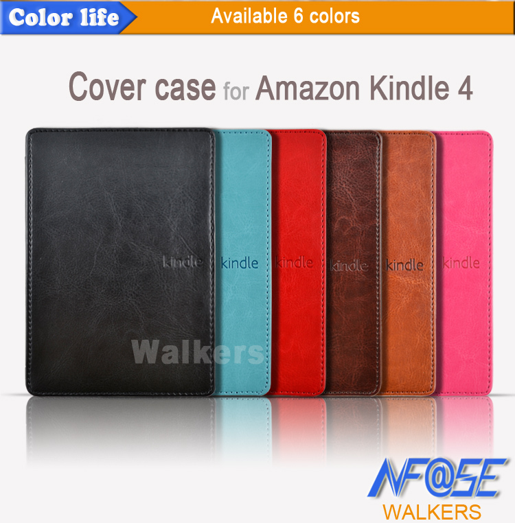 50pcs/lot free shipping hard back cover case for Amazon kindle 4 classic no touch mixed color DHL shipping(China (Mainland))