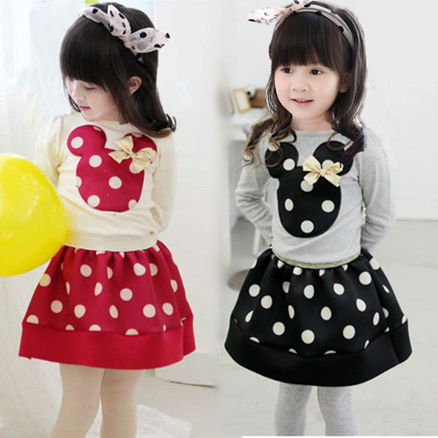 Cute minnie mouse clothes for baby toddler girls clothing sets kids
