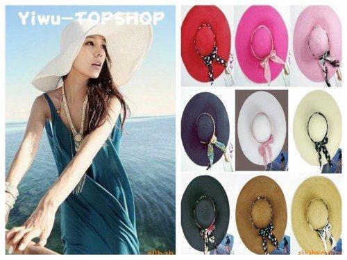 Free shipping Fashion Hollywood sexy lovely wide wire brim Floppy hat summer hat beach hat sun hat straw hat