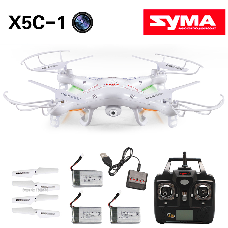 SYMA X5C-1 Drone RC Quadcopter with 2 MP HD Camera &amp; 4GB SD &amp; 5 Batteries &amp; multiple charger Sky Explore rc  Quad copter Toy<br><br>Aliexpress