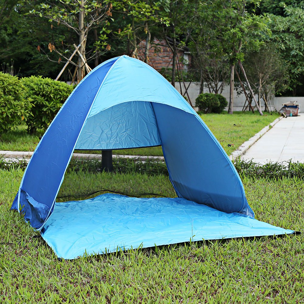 Outdoor Automatic Foldable Sun Shelter 3 - 4 Person Portable UV Protection Pop Up Instant Quick Cabana Beach Tent 6 Colors(China (Mainland))