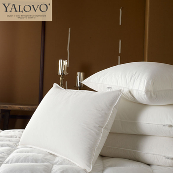 YALOVO Feather Pillow, The five-star Hotel Pillow / 30% White Duck Down Feather Pillow,  Free Shipping C007