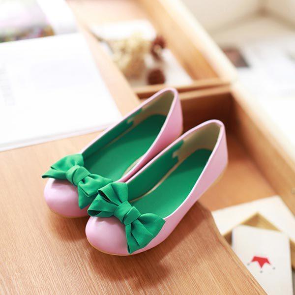 2015 Spring new ladies Flats fashion shoes sweet flat with bow Shallow mouth round toe women lovely princess flat shoes V193<br><br>Aliexpress