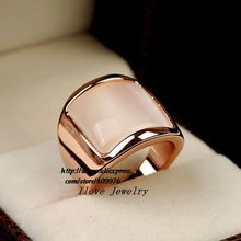 Free Shipping Top Quality Italina Rose Gold Plated Rings With Opal In the party or wedding(China (Mainland))