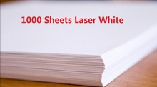 DHL Fast Delivery 1000 Sheets A4 Laser Printer Water Slide Decal Paper Sheets White Color(China (Mainland))