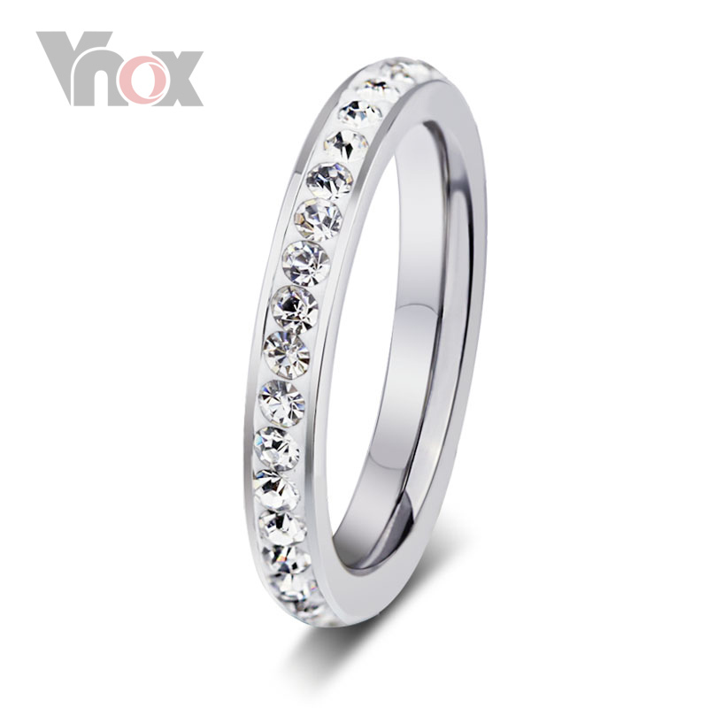 Fashion Crystal Wedding Rings For Women Jewelry Wholesale White Stone