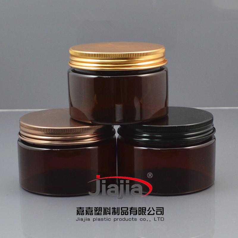 50 unids vacío 120 ml de Crema marrón, Tarro comprar 120g de plástico ámbar Envases Cometic, 120g Recipiente De Plástico PET con tapón de rosca De Aluminio(China (Mainland))