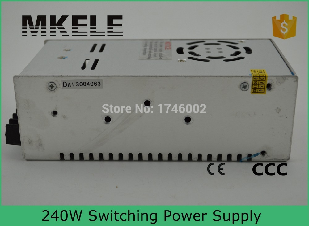 240watt 48v High reliable universal input range 240w wonderful S-240-48 5a switching power suply 48v with CE certification(China (Mainland))