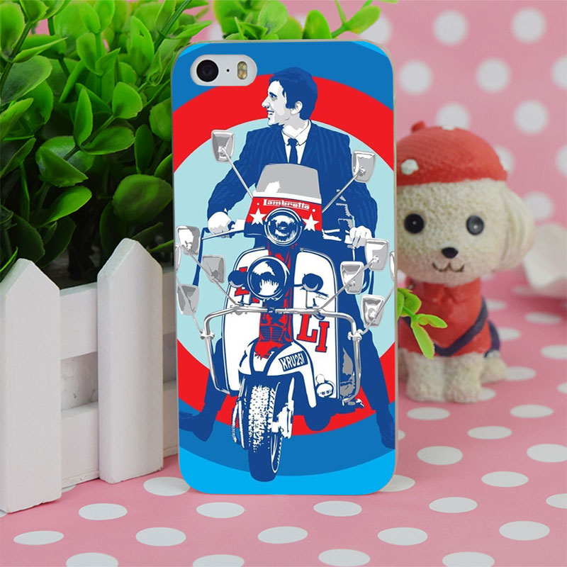 B3979 The Who Roger Daltrey Vespa Scooter Transparent Hard Thin Case Cover For Apple iPhone 4 4S 5 5S SE 5C 6 6S 6Plus 6s Plus(China (Mainland))