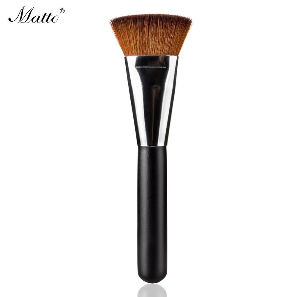 163 Flat Contour Makeup Brush Professional Soft Foundation Brush Nylon Hair Blending Brush for Makeup Face Cheeks Blusher Tools(China (Mainland))
