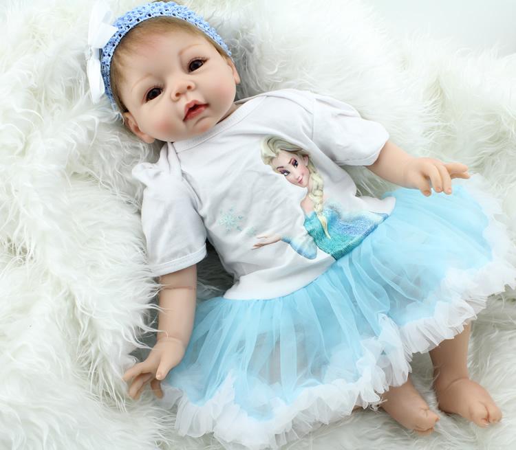 Фотография 22 inch 55cm  NPKDOLL  Reborn Baby Soft Silicone Realistic Handmade Newborn  Bonecas Toy bebe gift