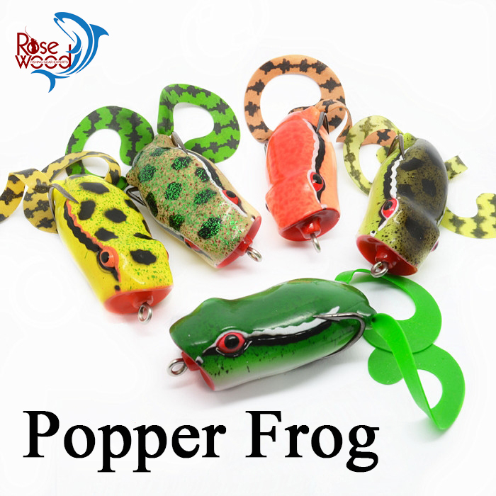 High quality frog fishing lure popper fishing wobbler 50mm 10g lure artificial bait cheap fishing lures 2016 fish supplies trout(China (Mainland))