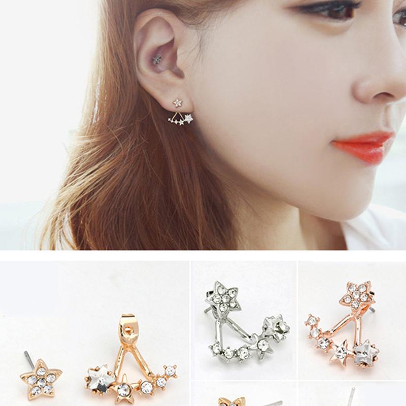 ES838 Lady Imitation Diamond Star Earrings Hang Stud Earring Women Fashion Jewelry Bijoux Broncos - BILL JEWELRY CO,.LTD Min order $8 store