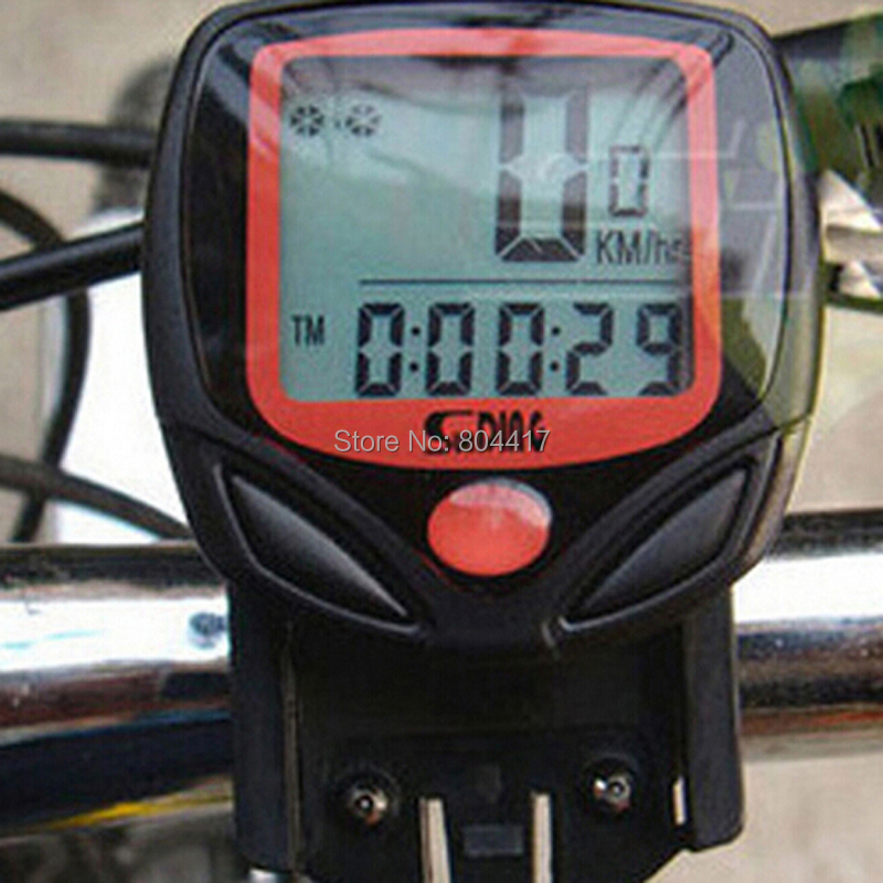 Free Shipping S548B Waterproof LCD Bicycle Computer Display Bike Odometer Speedometer 14 Functions + Wholesale(China (Mainland))