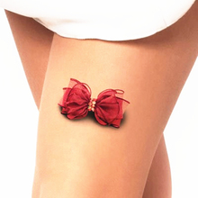 Sexy Bowknot 3d Temporary Tattoo Body Art Flash Tattoo Sticker 19*9cm Waterproof Henna Tatoo Selfie Fake Tatto Wall Sticker