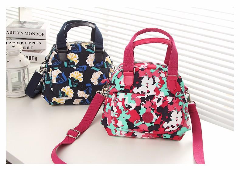 Fashion Casual Shell Bag Trendy Classy Women Printing Handbag Ladies Waterproof Nylon Small Single Shoulder Crossbody Bag