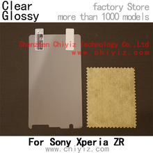 2 x High Quality Clear Glossy Screen Protector Film Guard Cover For Sony Xperia ZR LTE M36h C5502 C5503