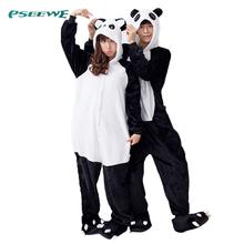 hot !! flannel Panda cartoon animal stitch cow one piece sleepwear, free shipping, autumn & winter sleepwear, new style