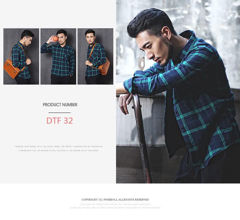 Новинка 2015 осень зима мужчин свободного покроя клетчатую рубашку с длинным рукавом slim-подходят фланель мужской одежды мужские рубашки ( много цветов )