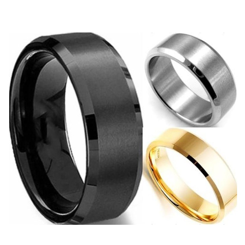 6MM Titanium Band Brushed Wedding Stainless Steel Solid Ring Men Women(China (Mainland))
