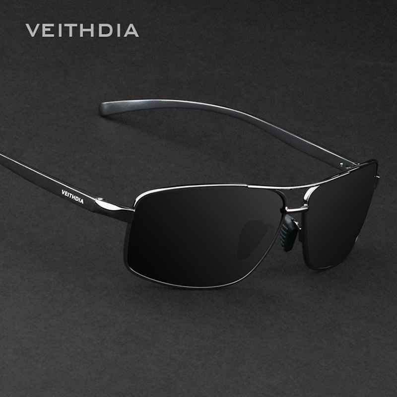 VEITHDIA Aluminum Magnesium Brand New Polarized Men's Sunglasses 3 Color Sun Glasses Men Driving Goggle Eyewear Accessories 2458(China (Mainland))