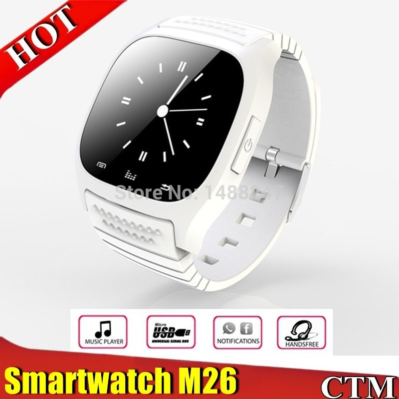 Bluetooth Sports smartatch M26 with LED Display Dial Alarm Music Player Pedometer for Android IOS HTC