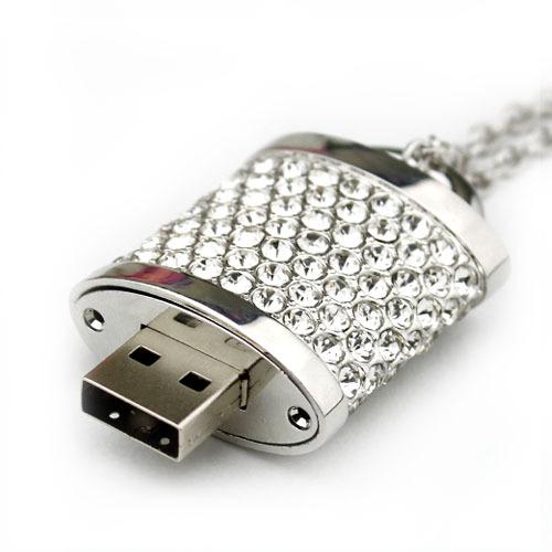 16gb valentine's lock crystal usb flash drive personalized usb flash drive necklace usb flash drive gift