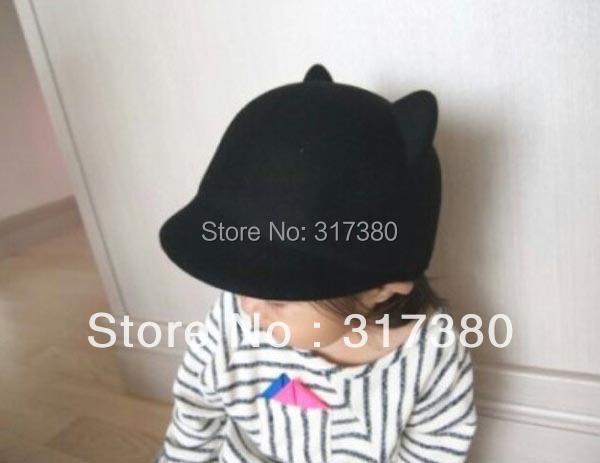 10pcs Designer Childrens Winter Derby Kid Wool Hats COOL Boys Autumn Bowler Hat Girl Felt Cap Toddlers Spring Bowler Infant Caps(China (Mainland))