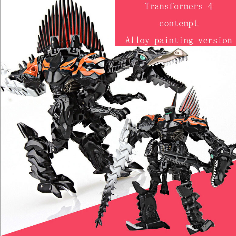 The new alloy version painting contempt for 8010 b contempt dinosaur deformation model robot alloy boy's gift(China (Mainland))