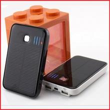 Portable Solar Power Bank 5000MAH bateria externa portatil Dual USB LED External Mobile Phone Battery Charger Backup Powerbank