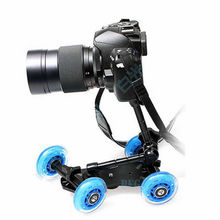 Pro Kit Sale 2in1 Portable Micro Camera Dolly Car + 11″ Articulating Magic Arm for Smooth Video Steady Photo Studio Accessories