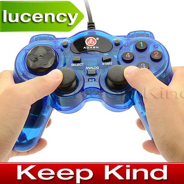 Freeshipping Double Shock Controller USB PC Gamepad Joystick For Win 7 / Win 8 / Win 10 ALP019(China (Mainland))