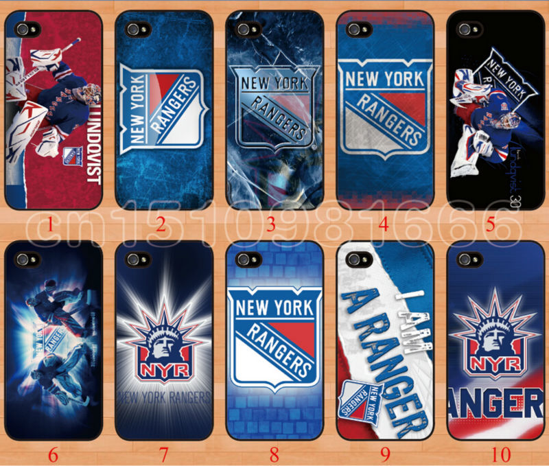 Hot wholesale!10PCS/LOT New York Rangers NHL Case Cover for iphone 4 4S 4G free shipping mobile phone bags&cases(China (Mainland))