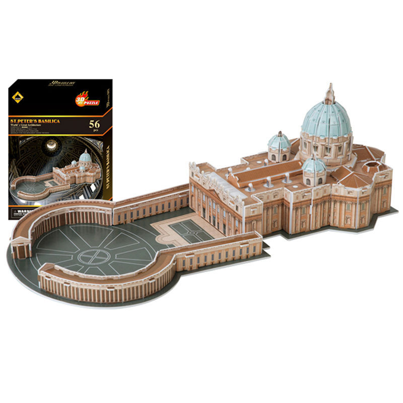 New Year gift St.Peters Basilica Vatican Church 3D Puzzle Roman Catholic Model Building Holy Land Puzzle Paper DIY Gift<br><br>Aliexpress