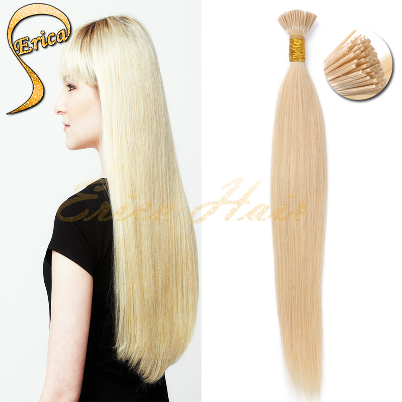 6A Unprocessed Virgin I-Tip Hair Extensions Brazilian Silk Straight King Hair 50 g/pc Stick Hair Product #60 Pre-Bonded I Tip<br><br>Aliexpress