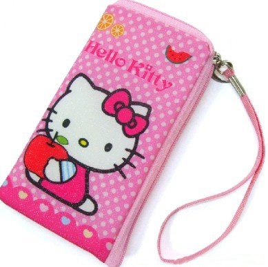 50 Pieces Mixed Cute HELLO KITTY IPOD CELL MOBILE PHONE BAG PURSE CASE POUCH(China (Mainland))