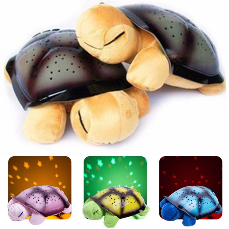 2016 Cute Design Turtle Led Night Light Stars Projector for Baby Lamp Toy With 4 Light Music Turtle Lamp(China (Mainland))